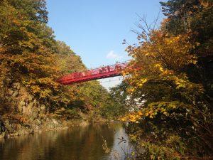 定山渓,二見吊橋