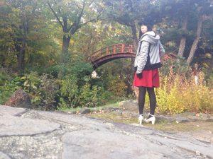 定山渓,赤い橋