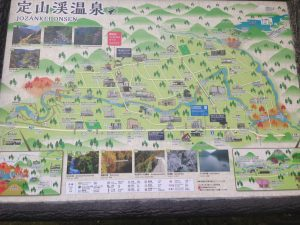 定山渓温泉マップ