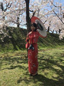 桜,浴衣,和装