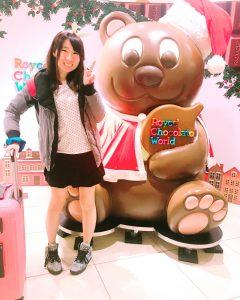 ロイズ,クマ,チョコレート,クリスマス,新千歳空港