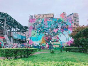 西門町,台湾,台北,壁絵,カラフル