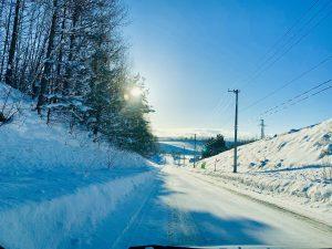 北海道,景色,冬,冬景色,ドライブ,雪