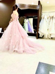 カクテルドレス、ピンク、2way