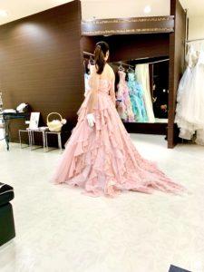 花柄ドレス、カクテルドレス,ピンク