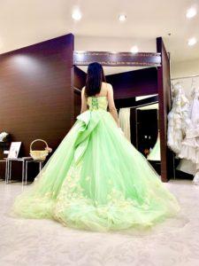 ティンカーベルドレス,カクテルドレス、緑
