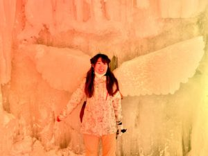 氷瀑祭り,層雲峡,氷,氷の羽